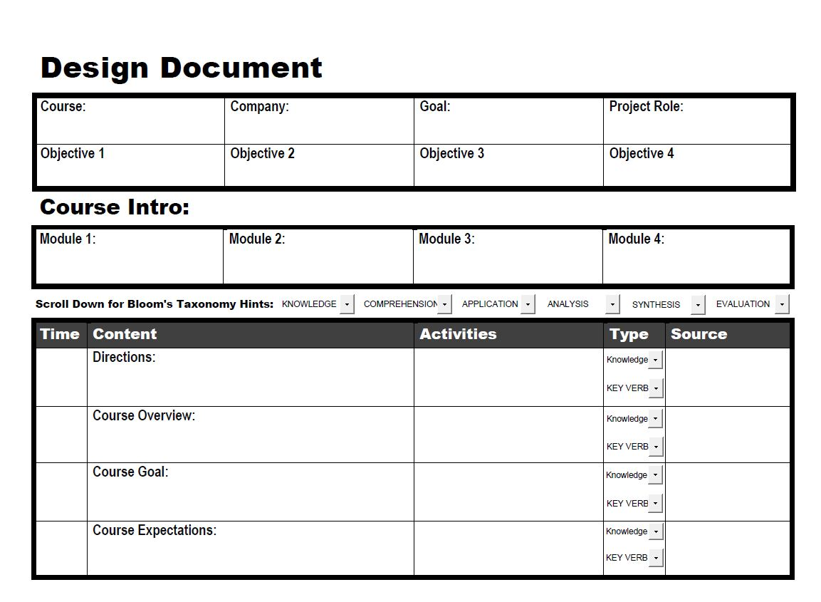 Interactive design doc 1 Create a blueprint